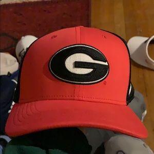 Red black UGA georgia Nike hat cap